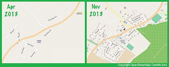 Changes to Culbokie on OpenStreetMap Jul to Sep 2013